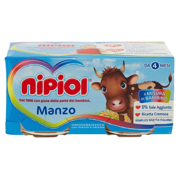 Nipiol Omogeneizzato Manzo 2 x 80 g