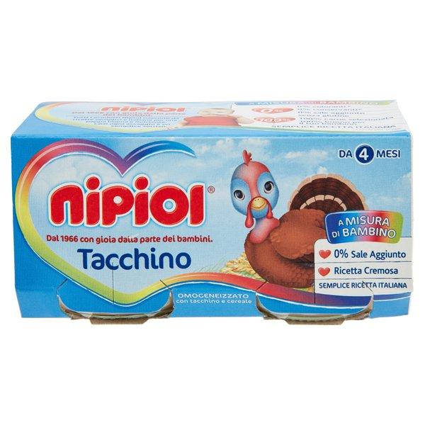 Nipiol Omogeneizzato con Tacchino e Cereale 2 x 80 g