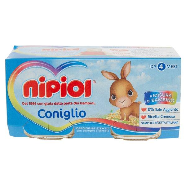 Nipiol Omogeneizzato con Coniglio e Cereale 2 x 80 g