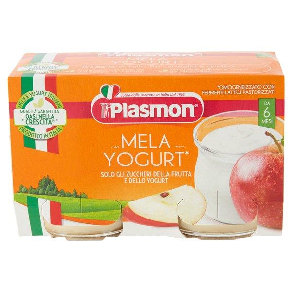 Plasmon Mela Yogurt* Omogeneizzato con Fermenti Lattici Pastorizzati 2 x 120 g