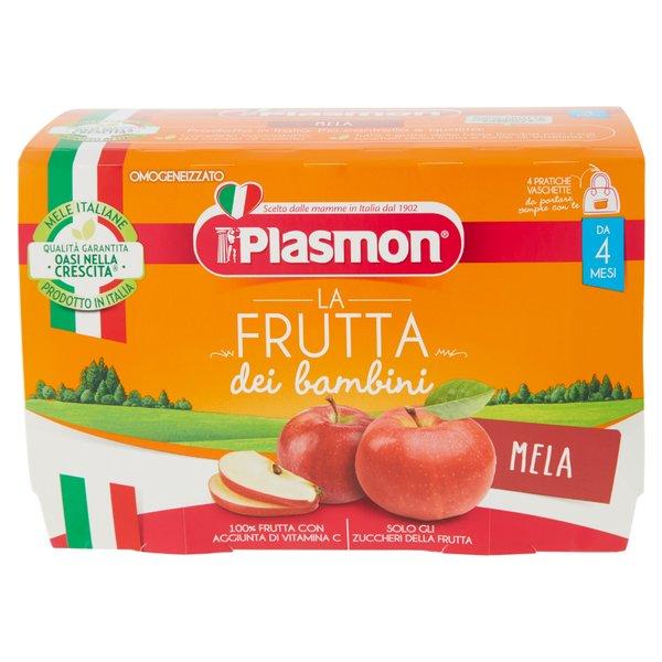 Plasmon la Frutta dei bambini Mela Omogeneizzato 4 x 100 g