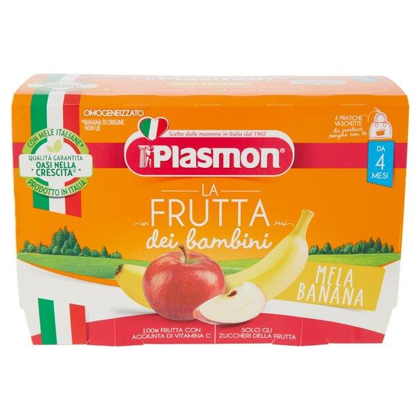 Plasmon la Frutta dei bambini Mela Banana Omogeneizzato 4 x 100 g