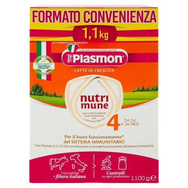 Plasmon Latte di Crescita nutri mune 4 1100 g