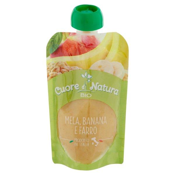 Cuore di Natura Bio Mela, Banana e Farro 100 g