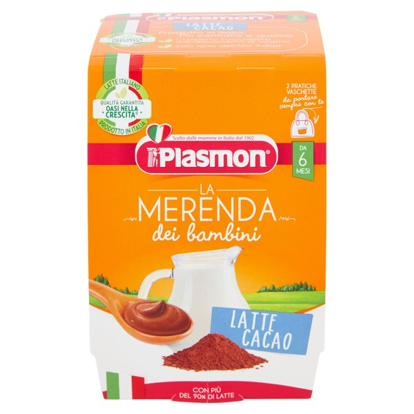 Plasmon la Merenda dei bambini Latte Cacao 2 x 120 g