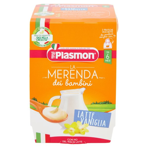 Plasmon la Merenda dei bambini Latte Vaniglia 2 x 120 g