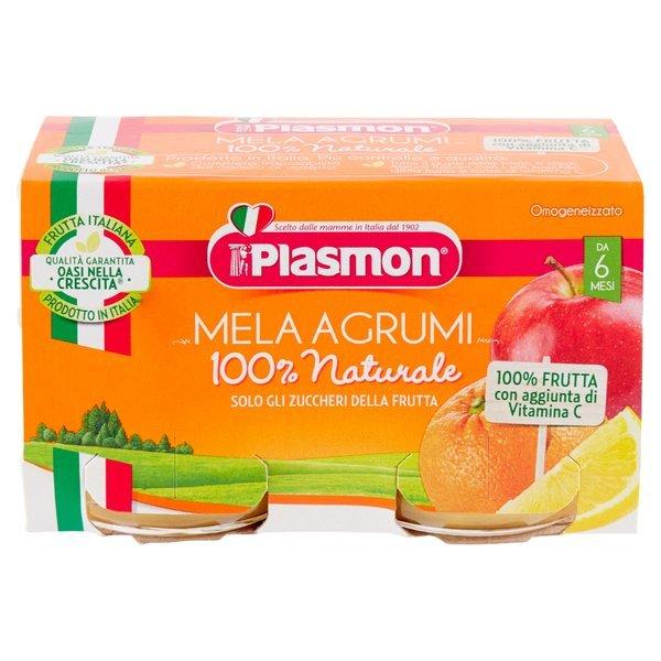 Plasmon Omogeneizzato Mela Agrumi 2 x 104 g
