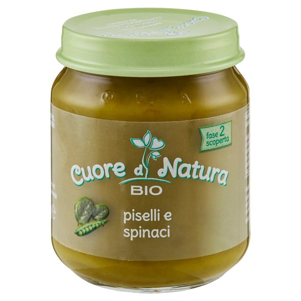 Cuore di Natura Bio piselli e spinaci 110 g