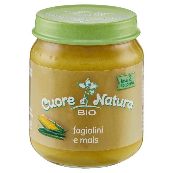 Cuore di Natura Bio fagiolino e mais 110 g