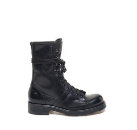 Stewart<br />Black calfskin heeled ankle boot