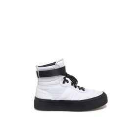 Humvee<br />White sneakers padded with velcro