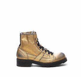 John half boot in gold laminated fabric