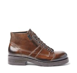 Frank brown brushed leather military boots