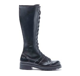 Charlie black brushed leather boots