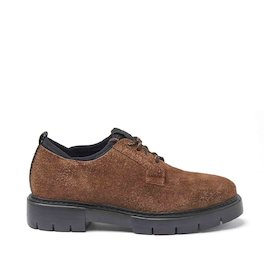 Amtrac brown crust leather Derby shoes