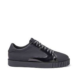 Booter all-black shoes with brushed leather band