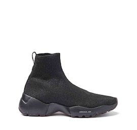 Airborne all-black lurex sock sneakers