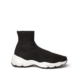 Airborne lurex sock sneakers with a contrasting sole