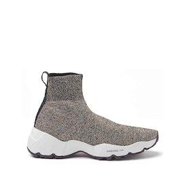 Sock-Sneaker Airborne aus goldfarbenem Lurex