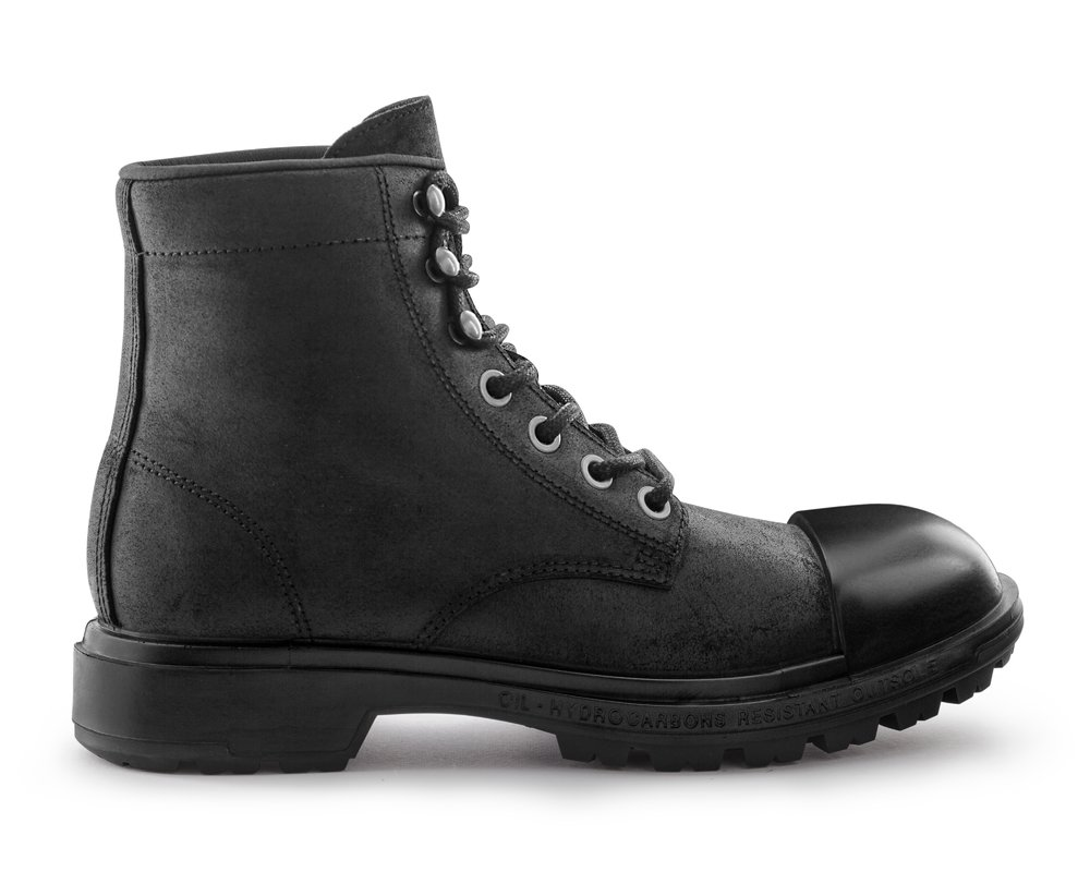 Scud® King's Cut 6'' Boot Rubber - Black