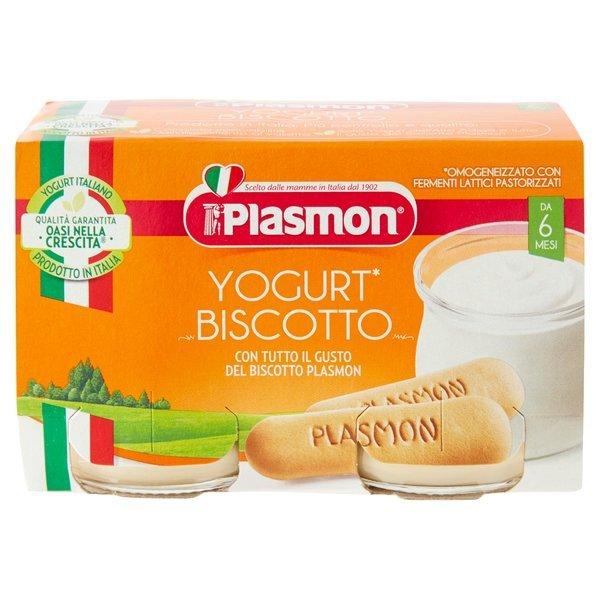 Plasmon Yogurt* Biscotto Omogeneizzato con Fermenti Lattici Pastorizzati 2 x 120 g