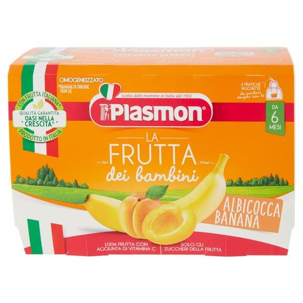 Plasmon la Frutta dei bambini Albicocca Banana Omogeneizzato 4 x 100 g