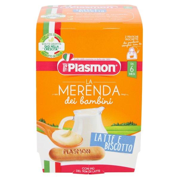 Plasmon la Merenda dei bambini Latte e Biscotto 2 x 120 g