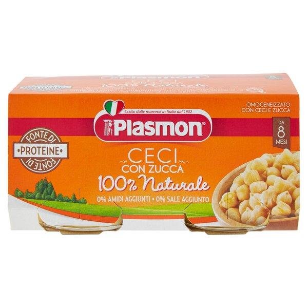 Plasmon Omogeneizzato con Ceci e Zucca 2 x 80 g