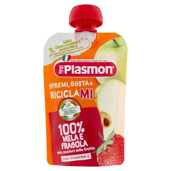Plasmon Spremi Gusta e Riciclami 100% Mela e Fragola 100 g