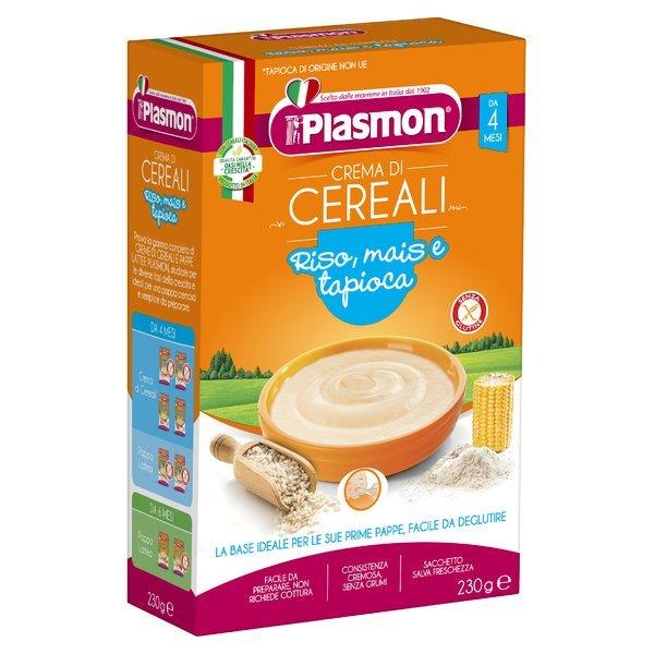 Plasmon Crema di Cereali Riso, mais e tapioca 230 g