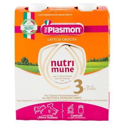 Plasmon Latte di Crescita nutri mune 3 2 x 500 ml