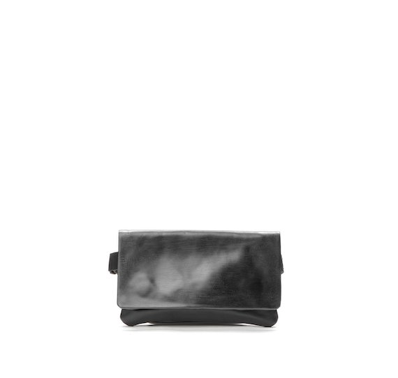Leather bumbag with coating