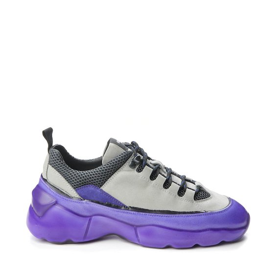 Ultra running shoe with purple coating