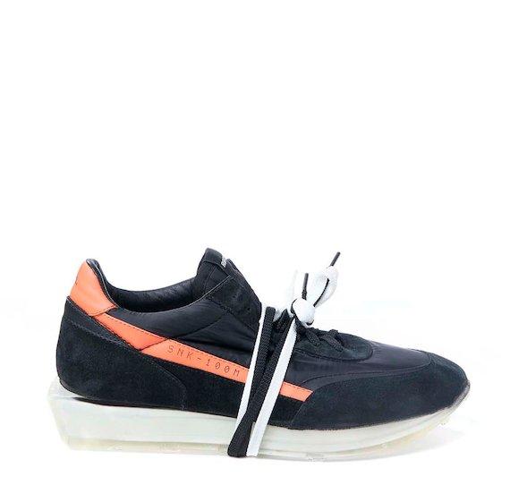 SNK-100M men's two-tone black shoe