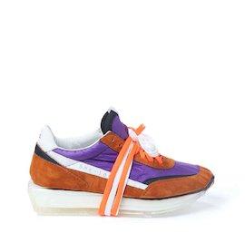 Scarpa bicolore cognac/viola SNK-100M uomo