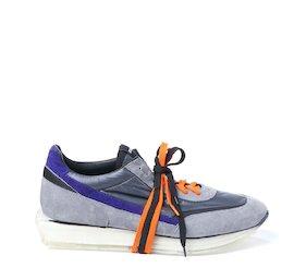 SNK-100M men's grey split grain shoe