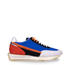 SNK-100M trainers in electric blue mesh and suede