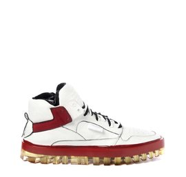 Women's Bold red and white shoes