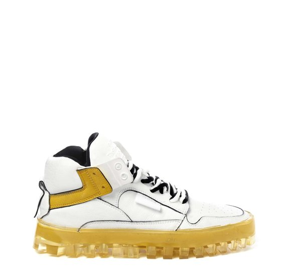 Women's Bold yellow and white shoes