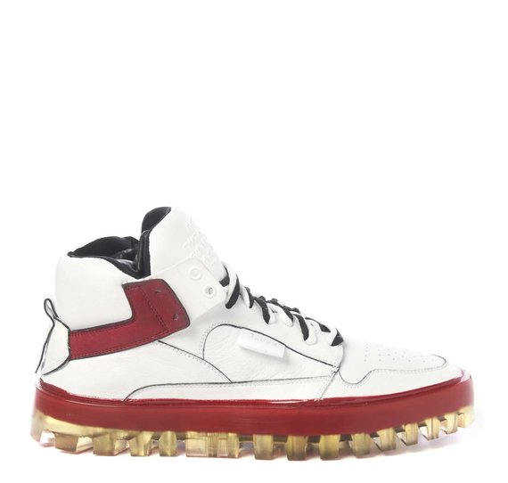 Men's Bold red and white shoes