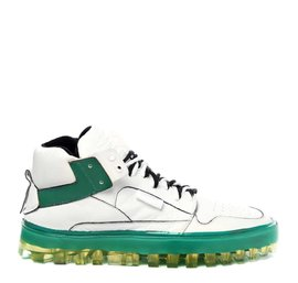 Men's Bold green and white shoes