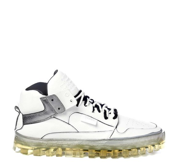 Men's Bold silver and white shoes