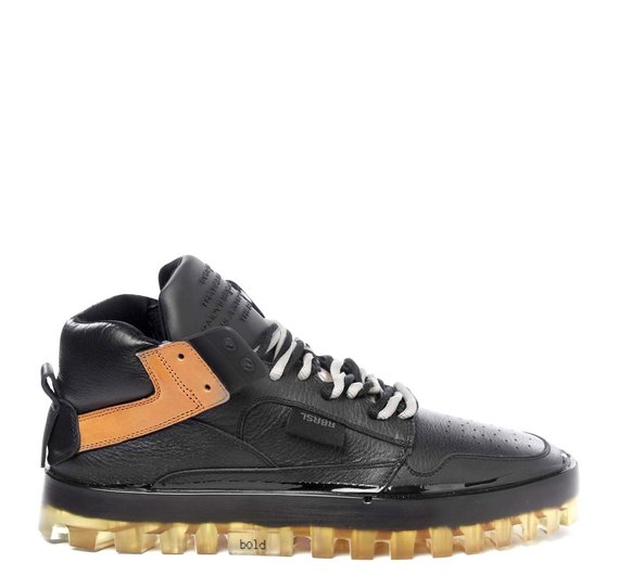 Men's Bold black and tan shoes