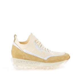 Women's SNK-100M trainers in beige technical knit fabric