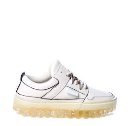 Women's BOLD low-top white leather trainers