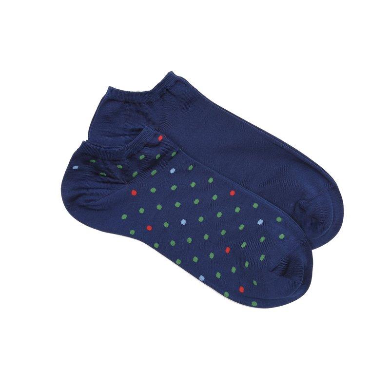 Bi-pack dots no-show socks