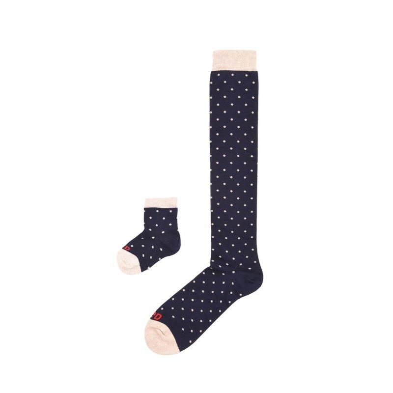 Pack -Baby & Man polka dots socks in organic cotton
