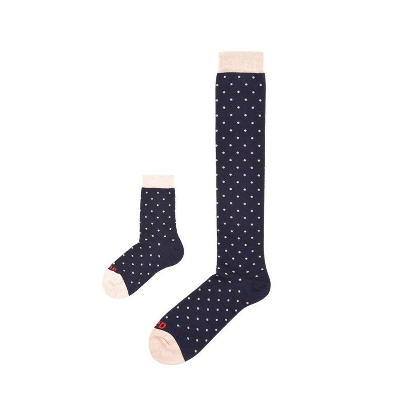 Pack -Kid & Man polka dots socks in organic cotton