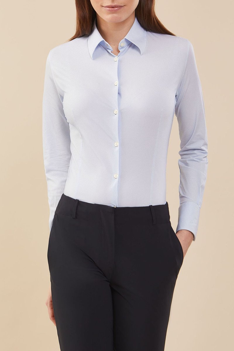 SHIRT OXFORD JACQUARD LADY