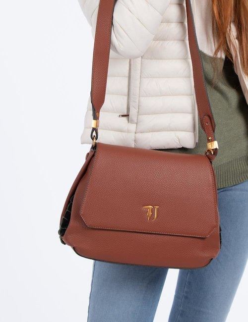 Borsa Trussardi Jeans a tracolla in ecopelle con logo - Leather